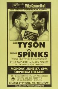 MIKE TYSON vs MIKE SPINKS 8X10 PHOTO BOXING POSTER PICTURE CLOSED CIRCUIT BORDER