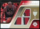 MICHAEL JORDAN 2004-05 Ultimate Collection Triple Game Worn Jersey Patch /10