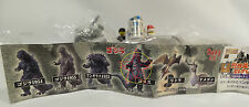 GODZILLA : SMALL GODZILLA FIGURES MADE BY BAN DAI IN 2001. SET OF 5