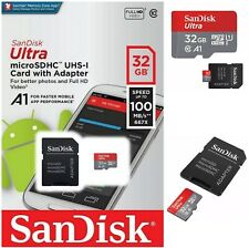 SANDISK ULTRA MICRO SD SDHC UHS-I MEMORY CARD WITH ADAPTER 100MBs UHSI CLASS 10