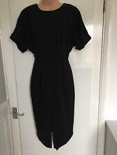 ASOS Little Black Dress Thigh Split ASCOT Wedding Formal UK8