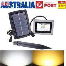 10W LED Solar Powered Flood Light Mount Outdoor Yard Garden Lawn Spot Lamp AU