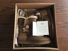 NEW Uggs Australia women Bailey Button 5803 chestnut brown suede boots Size 11