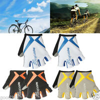 Cycling Fingerless Gloves Bike Bicycle GEL Sport Half Finger Gloves Shockproof