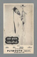 "Mary Martin ""LUTE SONG"" Nancy Davis (Reagan) Yul Brynner 1946 Broadway Postcard"