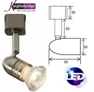 Knightsbridge LED GU10 Track Spot Light Mains Cool White Single Circuit Fitting