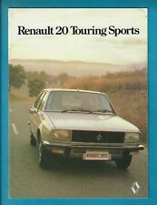 RENAULT 20 TOURING SPORTS 10 PAGE BROCHURE