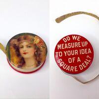 Vtg Tape Measure Roosevelt Square Deal Politics Victorian Whitehead & Hoag Rare