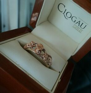Attractive Clogau Welsh 9ct Rose & Yellow Gold Tree Of Life Ring - size W