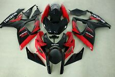 New ABS fairings fit for suzuki GSXR600 750 06-07 2006 2007 red and black colors