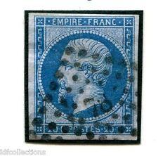 France Napoléon N°14B variété bleu sur lilas Joli timbre