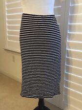 SANCTUARY Striped Skirt, L, Elastic Waist, Rayon Blend, EUC