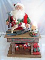 "Vintage 1995 Santa Old Toy Maker 20"" Animated Musical Light Up Holiday Decor"