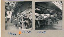 PARIS 1950 - 15 Photos Marché aux Fleurs - PL 1007