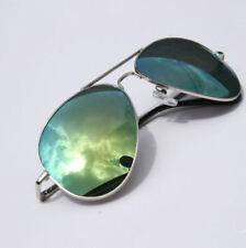 Occhiali da sole da uomo Aviator con montatura in verde a tecnologia lenti specchio