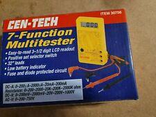 New Cen Tech 7 Function Digital Multitester 30756