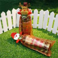 Christmas Snowman Elk Wine Bottle Bags Cover Santa Claus  Party Home Decor BB