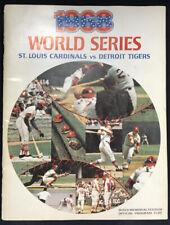 1968 Baseball World Series Tigers vs Cardinal Program Game 7 Clincher