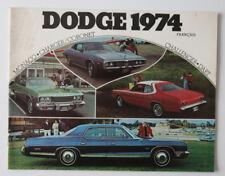 DODGE CHARGER CHALLENGER 1974 dealer brochure - French - Canada - ST1002000318