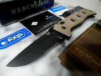 Benchmade Adamas Tactical Combat Pocket Knife 275SBKSN D2 Axis Tan G10 w Sheath