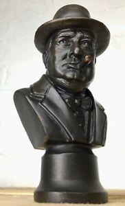 Sir Winston Churchill solid bronze bust statue sculpture cast in UK ltd edition