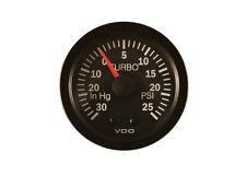 "VDO Mechanical Turbo Charger Gauge -30""Hg/+25PSI 150077004"
