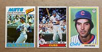 Dave Kingman Topps Vintage Baseball Card Lot(3): '77, '78, & '79. Cubs Mets