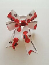 Girls red nose day hair bow bobble