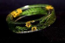 Handmade Real Flower Botanical Garden Resin Bangle Bracelet.{ZY-73}i.