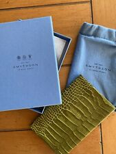 Brand New Crocodile Print Smythson Note Book For Fathers Day