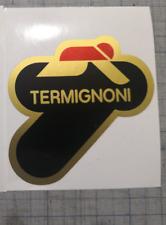 1 Adesivo Stickers TERMIGNONI resistente al calore 8 cm oro nero rosso