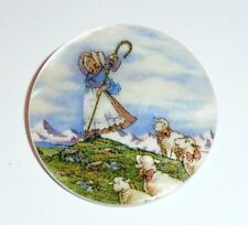 """Little Bo Peep & Her Sheep Button - Mother of Pearl MOP Shank Button 1+3/8"""""""