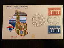 FRANCE PREMIER JOUR FDC YVERT  2309/10  EUROPA LES PONTS 2,80+2F STRASBOURG 1984