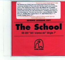 (DU447) The School, All I Wanna Do - 2008 DJ CD