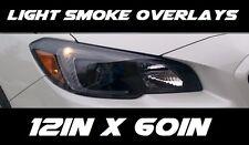 """High Quality Light Smoke Overlay Vinyl 12"""" X 60"""" (35%Smoke) Outdoors Rated! USA"""
