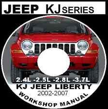 JEEP CHEROKEE JEEP LIBERTY KJ 2002-2007 2.4L 2.5L 2.8L 3.7L Workshop Repair CD