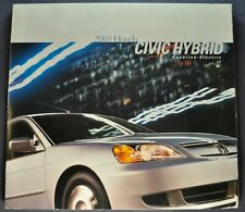 2003 Honda Civic Hybrid Catalog Sales Brochure Nice Original 03
