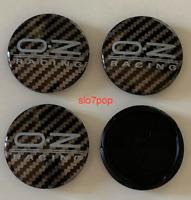 Black Gray Carbon 4 x 55mm OZ Racing M582 Set Alloy Wheel Rim Cups Hubs