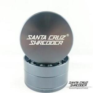 "Large 2.75"" Grey Santa Cruz Shredder Aluminum Herb Grinder 4 Piece"
