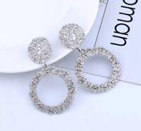 Silber Ohrringe Damen Luxus Schmuck Versilbert Tropfen Neu Women Earrings Silve