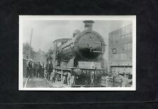C1980's Reproduction Photo Image of a Steam Loco No 193 & Workmen