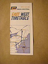 Penn Central - East West Time Table - June 29, 1969