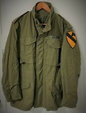 Genuine Us Army M65 Field Jacket - Olive Drab - 1st Cavalry Division