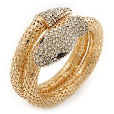Dazzling Coil Flex Snake Bangle Bracelet (Gold Tone) - Adjustable