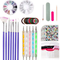 48PCS UV Gel Nail Art Design Set Painting Dotting Drawing Polish Brush Pen