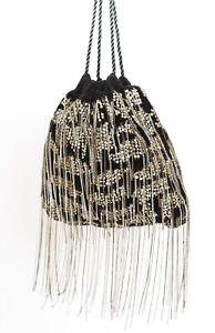 Sequin / Chain Drawstring Bag Shoulder Disco Party