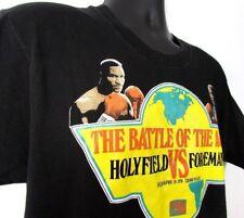 Heavyweight Championship Men's T-Shirt L 1991 Foreman Holyfield Trump Plaza USA