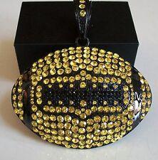 Black/Yellow Finish Football Hip Hop Bling Rapper Style Elegant Fashion Pendant