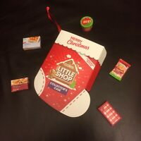 COLES LITTLE SHOP MINI COLLECTABLES <()> FULL SET OF CHRISTMAS EDITION WITH CASE