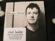 Harper Simon ‎– Berkeley Girl [PIAS] Recordings ‎– PIASR 214CDSP Promo CD Single